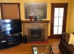 living room - original fireplace